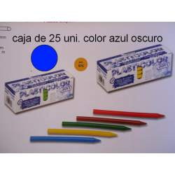CERAS JOVI PLASTICOLOR GRANEL AZUL OSCURO C/25