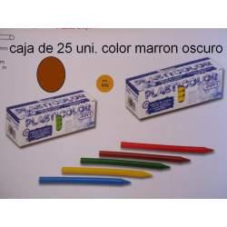 CERAS JOVI PLASTICOLOR GRANEL MARRON OSCURO C/25