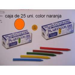CERAS JOVI PLASTICOLOR GRANEL NARANJA C/25