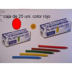 CERAS JOVI PLASTICOLOR GRANEL ROJO C/25