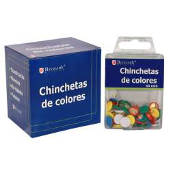 CHINCHETAS BISMARK COLORES ESTUCHES 50U