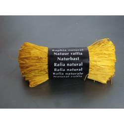 CINTA RAFIA NATURAL MAILDOR MADEJA 50G COLOR AMARILLO 196015 0071