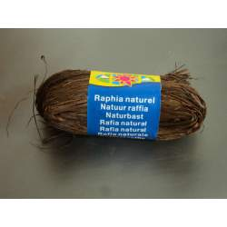 CINTA RAFIA NATURAL MAILDOR MADEJA 50G COLOR MARRON 196073 0071
