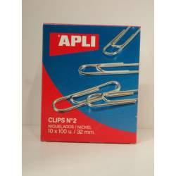 CLIPS APLI 2 BILABIADOS NIQUELADOS C/1000 11711