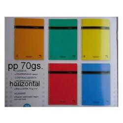 CUADERNO T PP FOLIO 80H PACSA POLIPAC 70G HORIZONTAL 16334