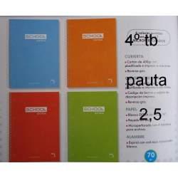 CUADERNO TB 4º 80H PACSA SCHOOL PAUTA 3,5 16439