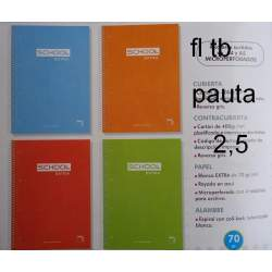 CUADERNO TB FOLIO 80H PACSA SCHOOL PAUTA 2,5 16440