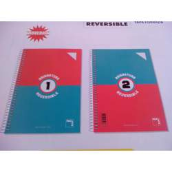 CUADERNO TD FOLIO 100H PACSA 2 ASIGNATURAS REVERSIBLE EXTRA 70G CUADROS 4*4 16272