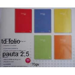 CUADERNO TD FOLIO 80H PACSA INSTITUT PAUTA 2,5 16222