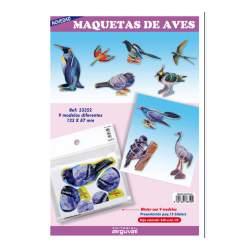 MAQUETAS 3D ARGU RECORTABLES AVES PTE/9U 33352