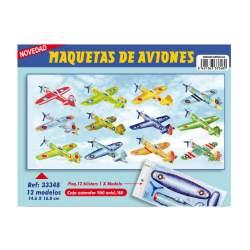 MAQUETAS 3D ARGU RECORTABLES AVION PEQUEÑO 33348
