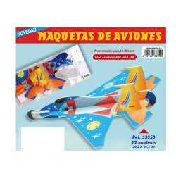 MAQUETAS 3D ARGU RECORTABLES AVION REACTOR 33350