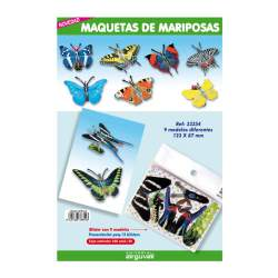 MAQUETAS 3D ARGU RECORTABLES MARIPOSAS PTE/9U 33354