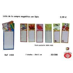 LISTA COMPRA SORT C/LAPIZ E IMAN 1433