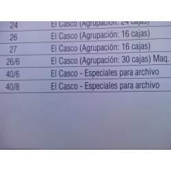 GRAPAS EL CASCO 40/8 ARCHIVO CAJITA 1000 APROX