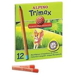 LAPIZ ALPINO 113 TRIMAX 12 COLORES GRUESO