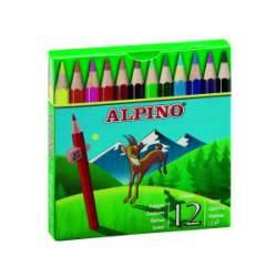 LAPIZ ALPINO 652 CARTON 12 COLORES CORTOS