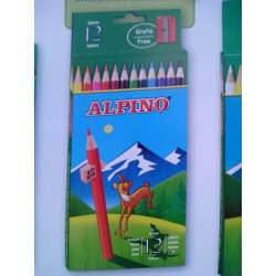 LAPIZ ALPINO 654 CARTON 12 COLORES