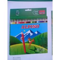 LAPIZ ALPINO 658 CARTON 24 COLORES