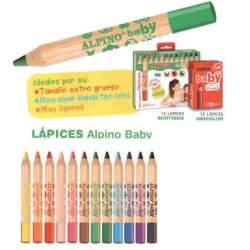 LAPIZ ALPINO BABY 12 COLORES GRUESO AL000177