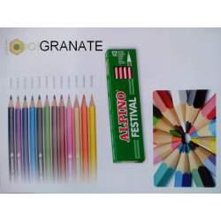 LAPIZ ALPINO FESTIVAL GRANEL GRANATE C/12U