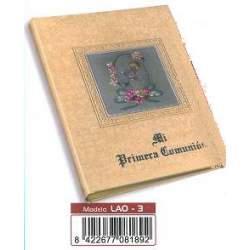 LIBRO COMUNION BULMARK MUSICAL CUADRO ALUMINIO CREMA LAO-3