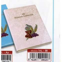 LIBRO COMUNION BULMARK PLACA ALUMINIO PORTARETRATOS BLANCO TAL-BL