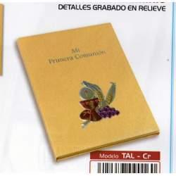 LIBRO COMUNION BULMARK PLACA ALUMINIO PORTARETRATOS CREMA TAL-CR
