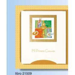 LIBRO COMUNION EDICROMO ELEGANCE CALIZ PAN PECES 21509