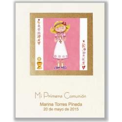 LIBRO COMUNION EDICROMO ELEGANCE NIÑA ROSA 21514