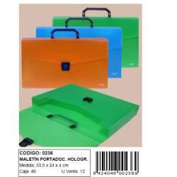 MALETIN FORCEL PLASTICO PP HOLOGRAMA TRANSLUCIDO 0236