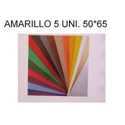 CARTON ONDULADO AMARILLO 50*65 PTE 5H