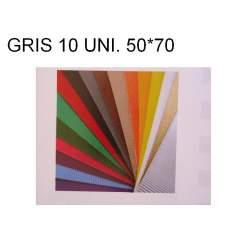 CARTON ONDULADO GRIS 50*70 PTE/10U