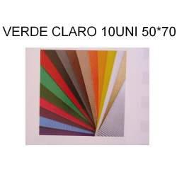 CARTON ONDULADO VERDE CLARO 50*70 PTE/10U