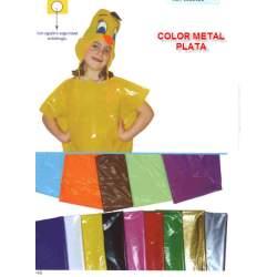 BOLSA PLASTICO DISFRAZ 65*90 COLOR METAL PLATA PTE 25U
