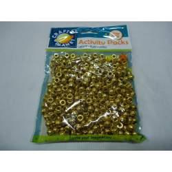 CUENTAS ORO PARA COLLARES B/300U CPT 6511110