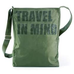 BANDOLERA DIVINAS TRAVEL IN MIND VERTICAL CAQUI 45CM 18873
