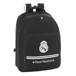 MOCHILA SAFTA15 REAL MADRID BLACK DOBLE 42CM 611524560