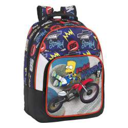MOCHILA SAFTA15 SIMPSONS MOTOCROSS DOBLE 42CM 611505560