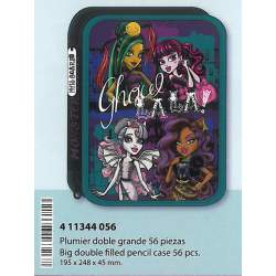 ESTUCHE CREMA SAFTA 13 MONSTER HIGH SCARIS DOBLE GRANDE 411344056