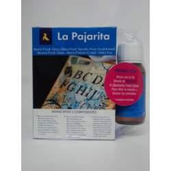 BARNIZ PAJARITA FINISH GLASS ACABADO CRISTAL KIT A+B 120+60ML REGALO DISOLVENTE