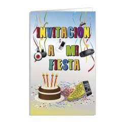 TARJETA INVITACION FIESTA ARGUVAL FIESTA JUVENIL BLISTER 8U 38167