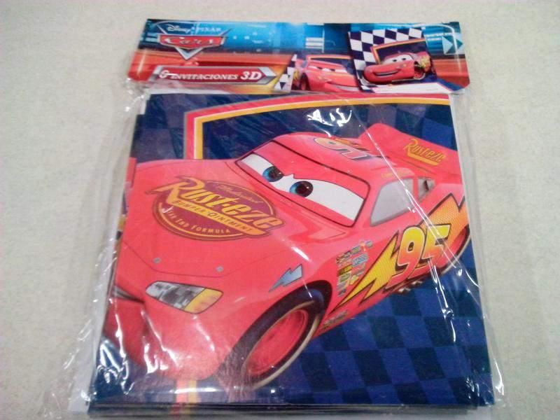 Tarjeta Invitacion Fiesta Verbetena Cars Blister 6u 14000655