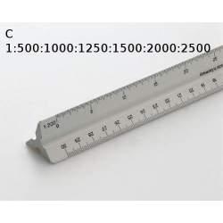 ESCALIMETRO TRIANGULAR 30 CM FABER 153-C 1:500/1000/1250/1500/2000/2500