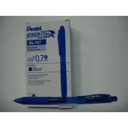ROTULADOR PENTEL ENERGELX 0,7MM RETRACTIL AZUL C/12U BL107-C