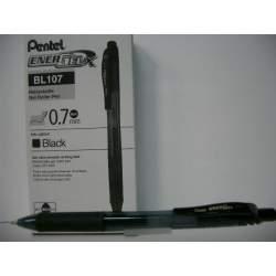 ROTULADOR PENTEL ENERGELX 0,7MM RETRACTIL NEGRO C/12U BL107-A
