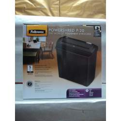 DESTRUCTORA FELLOWES P-20 TIRAS 7MM 5 HOJAS