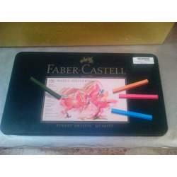 TIZA FABER-CASTELL PITT 120 COLORES CAJA METAL 128511
