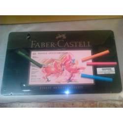 TIZA FABER-CASTELL PITT 60 COLORES CAJA METAL 128560