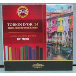 TIZA KOH-I-NOOR TOISON D'OR 24 COLORES CAJA CARTON 8584